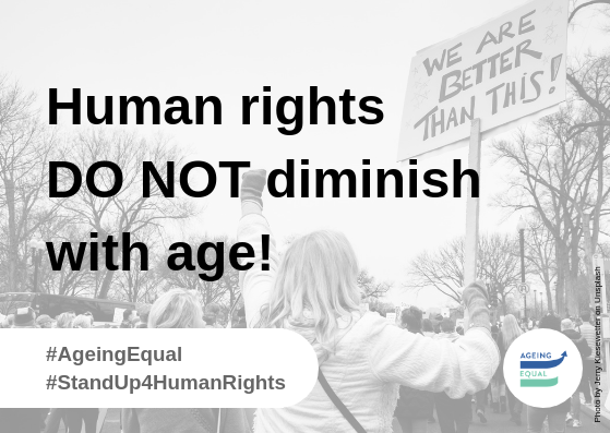 A first week of campaigning for ageing with equal rights!