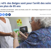 40% of Belgians in favour of stopping care after 85 years old