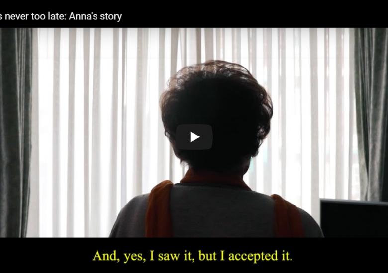 Never Too Late, Anna's video