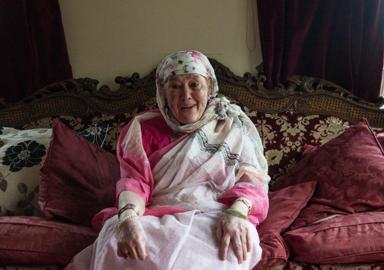 Older woman wearing the veil